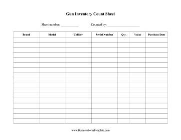 Firearm Inventory Template Firearms Business Plan Template
