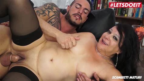 Letsdoeit Chubby Italian Milf Fucked Hard In Her First