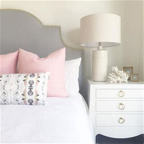 gray and pink bedroom with two tone nightstand gray and pink bedroom with two tone nightstand