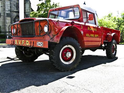 jeep brush truck 1968 kaiser jeep m 715 fire truck jeep fire and brush