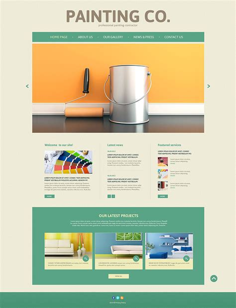 painting flyers templates free painting company responsive website template 52492