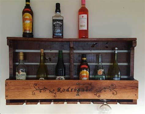 pallet rustic wine rack  wood burned design pallet ideas