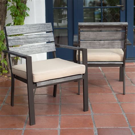 faux wood outdoor dining table belham living silba envirostone faux wood patio dining