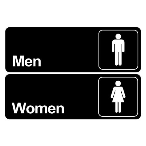 men and women bathroom sign men women bathroom door signs commercial restaurant