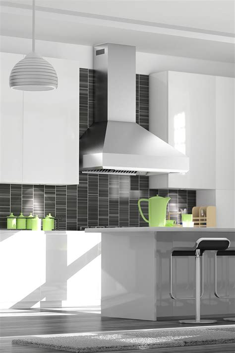 small white kitchen with steel hood kitchen stainless steel recirculating vent hood with
