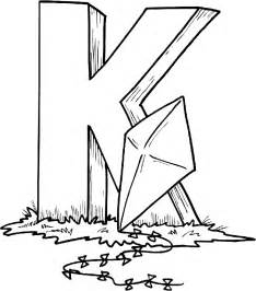 letter k coloring page free alphabet coloring pages