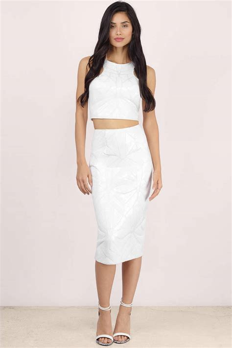 Side Slide Pencil Skirt white pencil skirt dress