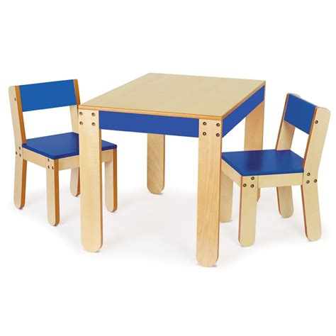 Rubber Wood Table With 2 Chairs