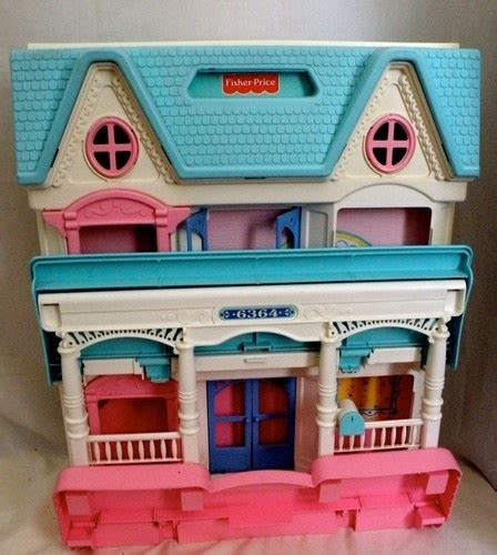 folding doll house vintage fisher price loving family dollhouse 6364 folding with lots of items htf kid fisher