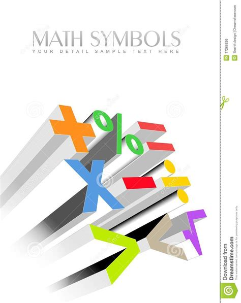 and animal motifs colorful stones applications some designers offer 3d colorful math symbols royalty free stock image image