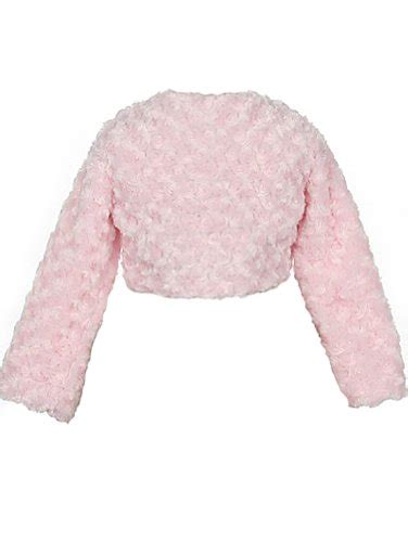 Syarina Pink Soft Abu Dress Bruklat faux fur sleeve bolero jacket shrug pink white ivory black infant to buy in