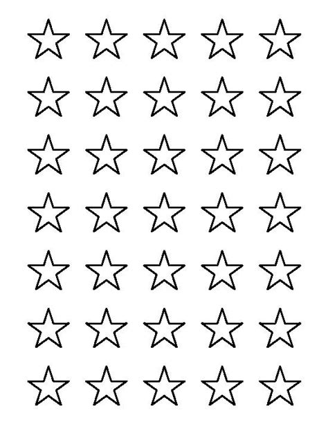 printable american flag stars american flag star template outline 1 inch pattern use the
