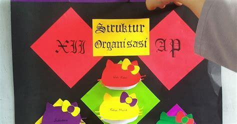 membuat struktur organisasi kelas menggunakan kertas karton daily agenda membuat struktur organisasi kelas