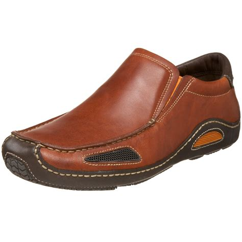 cole haan mens air slip on in brown for bourbon