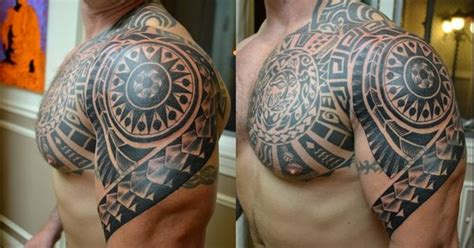 how to cover up a tribal tattoo colored polynesian tattoos tribal