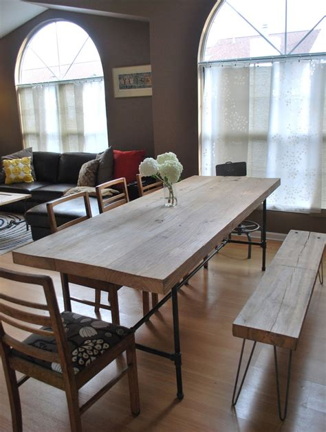 salvaged wood placemats industrial dining room custom industrial reclaimed wood dining table25 by