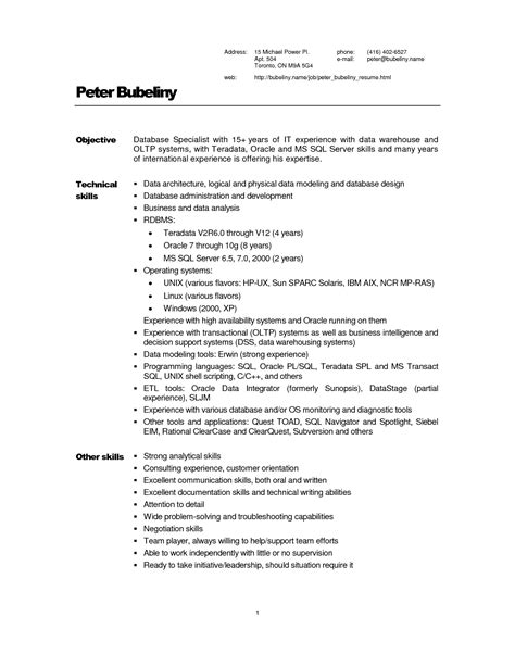 sle resume warehouse description worker cover