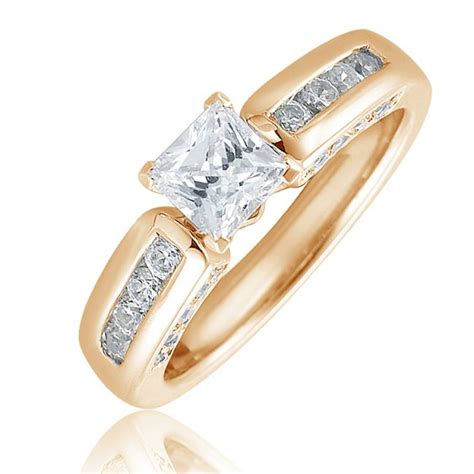 princess cut solitaire ring with 24 brillant