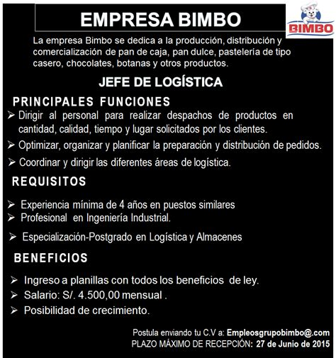 La Bimbo by Logistica De La Empresa Bimbo Cryptorich