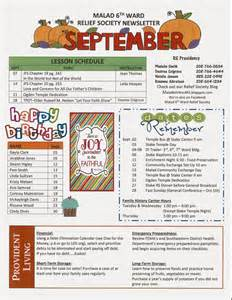 malad 6th ward relief society blog september newsletter
