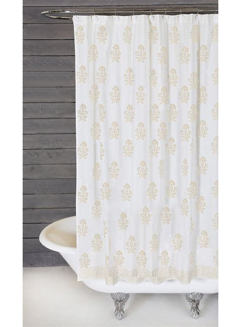 White Curtains With Pom Poms Decorating Bahaar Shower Curtain Design By Pom Pom At Home Burke Decor