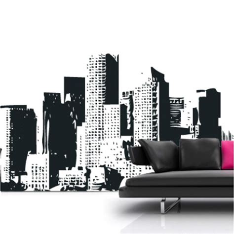 cityscape wall stickers new york cityscape wall sticker large skyline wall decor
