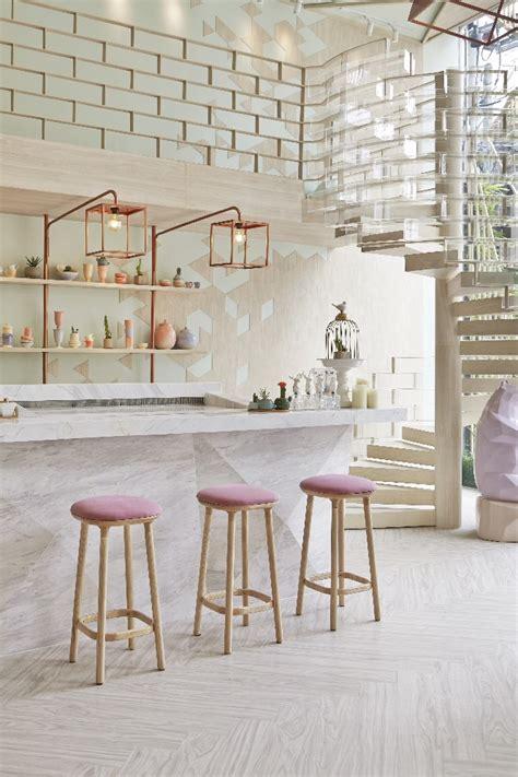 shop design industrial mix home design ideas boutique home decor explosive mix copper floor ls and pink details