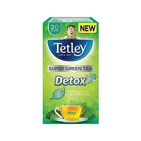 Detox Green Tea Bags by Tetley Green Detox Mint Tea Bags 20 Per Pack Pack Of 2