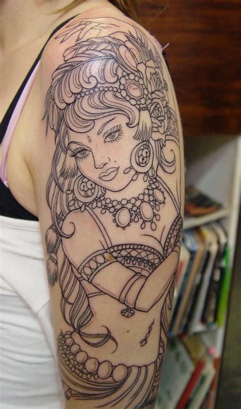 gypsy girl tattoo design designs