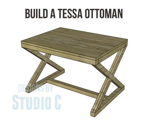 ottoman plans build a tessa ottoman designs by studio c