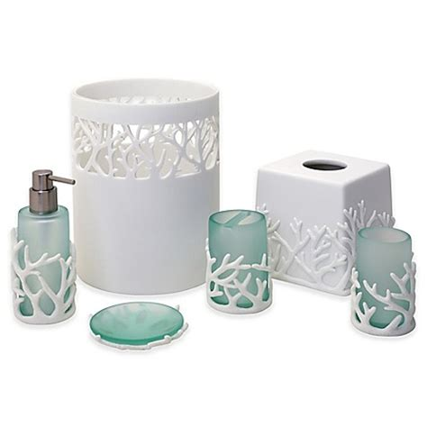 india ink bathroom accessories india ink coral reef bath ensemble bed bath beyond
