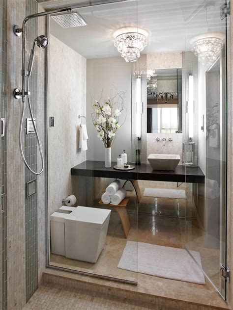 Hgtv Master Bathroom Designs A Sleek Space With Furnishings Pared The Master