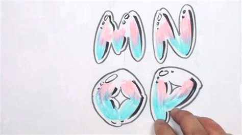 drawing graffiti bubble letters mnop curiouscom