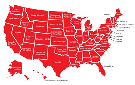 most popular this map shows the most popular netflix show across all