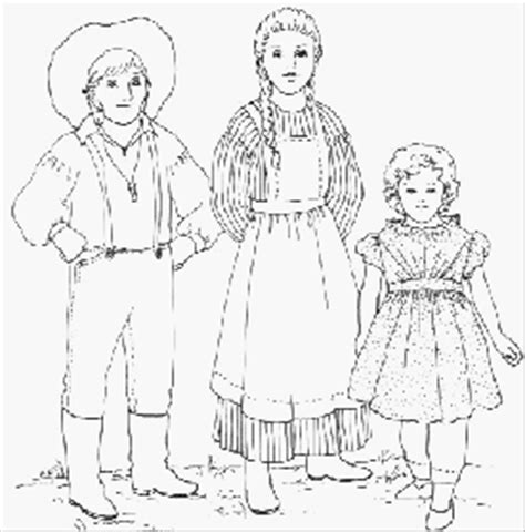 pioneer clothes coloring page coloring pages