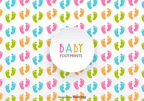 infant pattern video free baby footprints vector pattern download free vector