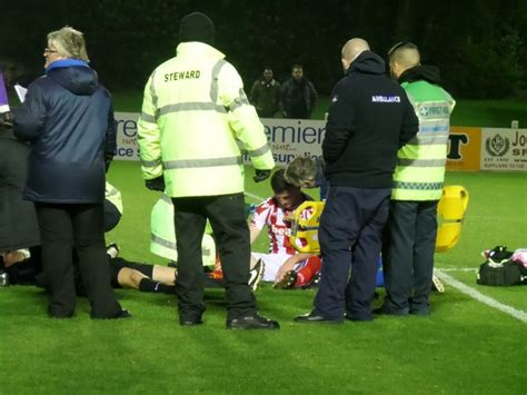 tom hughes stoke on trent injury check for mark hughes as youth midfielder suffers
