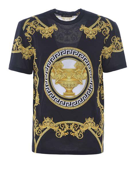 Versace Ori baroque print cotton t shirt by versace t shirts ikrix