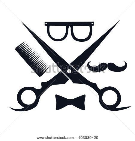 Sisir Barbershop barbershop logo scissors mustache comb barbershop stock