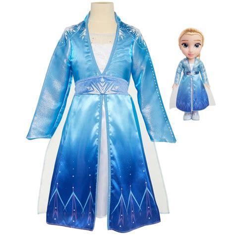 disney frozen  elsa adventure doll dress kids fancy