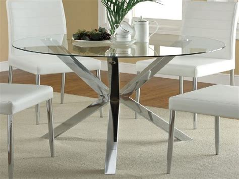 Glass Top Circular Dining Table Glass Top Dining Table