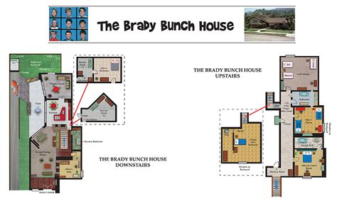 brady bunch house blueprints the real brady bunch house floor plan brady bunch floor