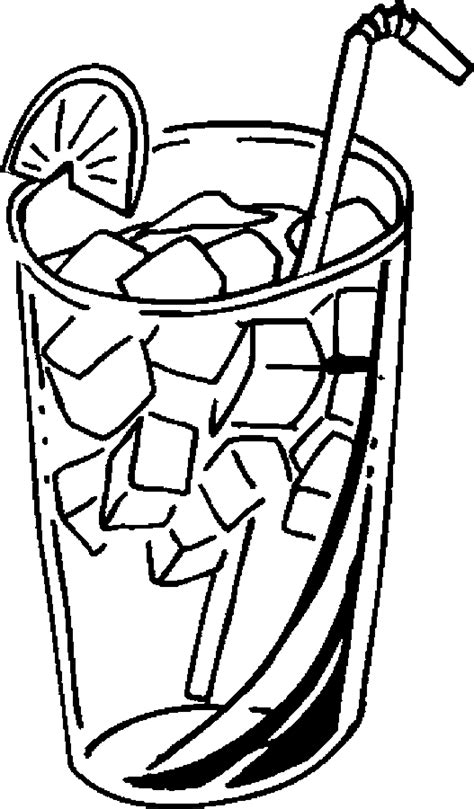 iced tea 2 Free Printable Drinks Coloring Pages