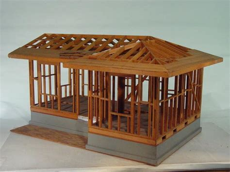 model houses to build hand build architectural wood framework model house