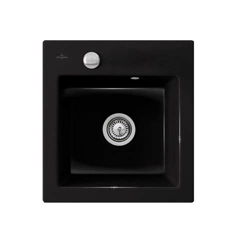 Evier Noir Brillant by Evier C 233 Ramique Noir Brillant Villeroy Boch Subway 1 Bac