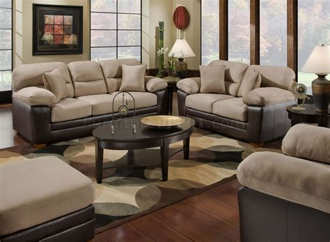 microfiber and leather couch mocha microfiber sofa loveseat set w bonded leather base