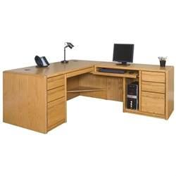 Contemporary L Shaped Desk Martin Furniture Contemporary Lhf L Shaped Computer Desk In Medium Oak 0068l 00684l R Kit