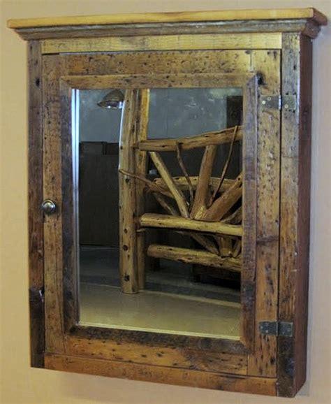 Barn Wood Medicine Cabinet With Mirror ? Barn Wood
