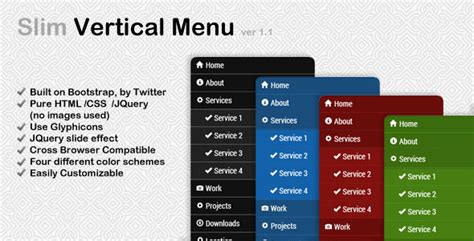 vertical menu template css vertical menu