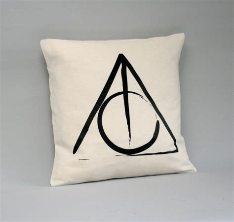 Harry Potter Pillow by Harry Potter Cushion Cover Deathly Hallows Pillow Cover